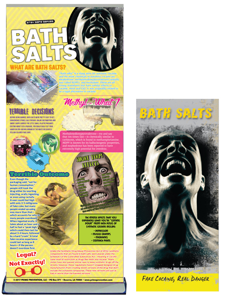 Bath Salts Prevention Retractable Banner Package