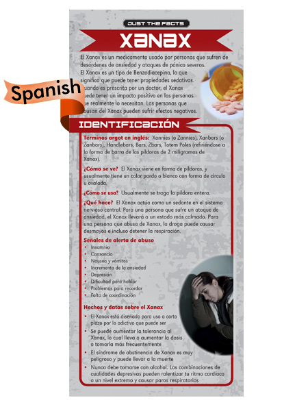 *SPANISH* Just the Facts Rack Card: Xanax