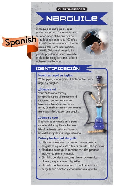 *SPANISH* Just the Facts Rack Card: Hookah