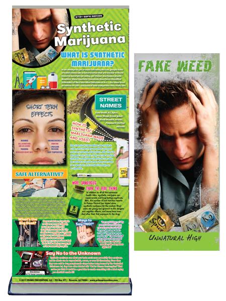 Synthetic Marijuana Retractable Banner Package