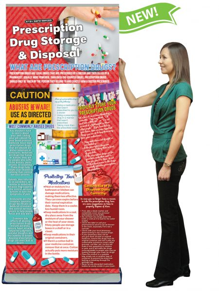 Prescription Drug Storage & Disposal Retractable Banner w/Stand
