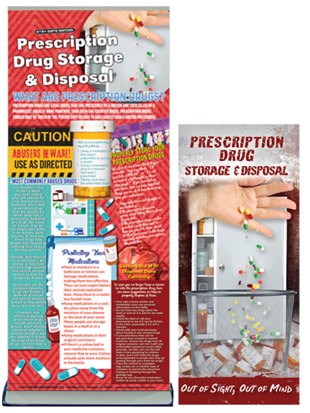 Prescription Drug Storage & Disposal Retractable Banner Package