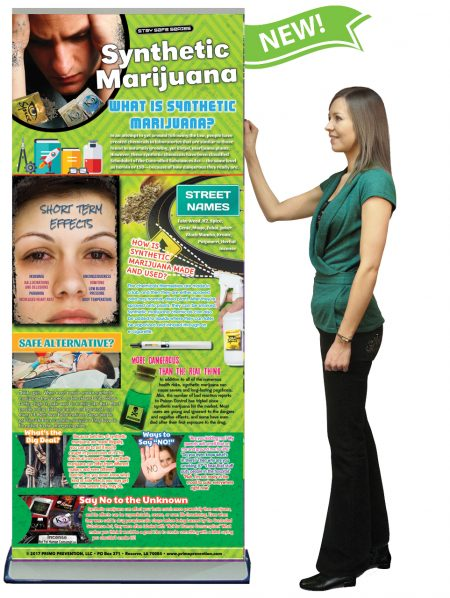 Synthetic Marijuana Retractable Banner w/Stand