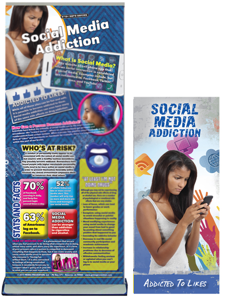 Social Media Addiction Retractable Presentation Banner Package