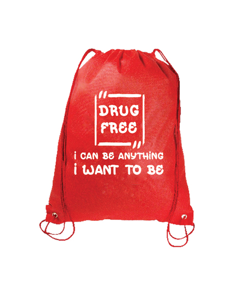 Like Me, I'm Drug Free Drawstring Backpack