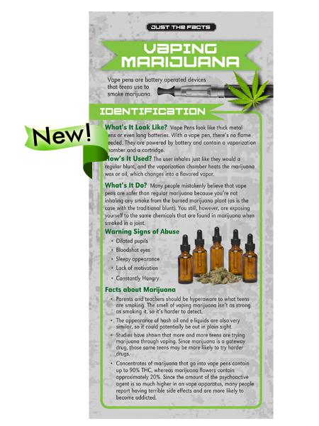Just the Facts Rack Card: Vaping Marijuana