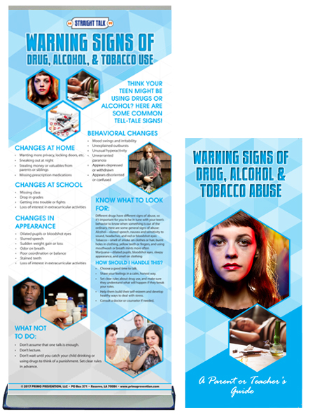 Warning Signs of Drug, Alcohol & Tobacco Abuse Retractable Banner Package