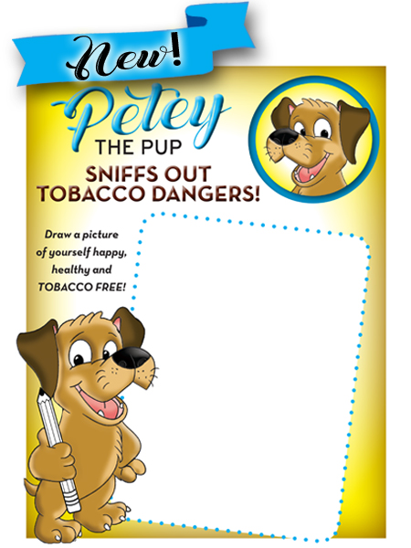 Petey the Pup: Tobacco Dangers Activity Sheet