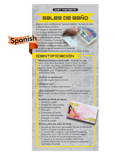 * SPANISH* Just the Facts Rack Card: Bath Salts