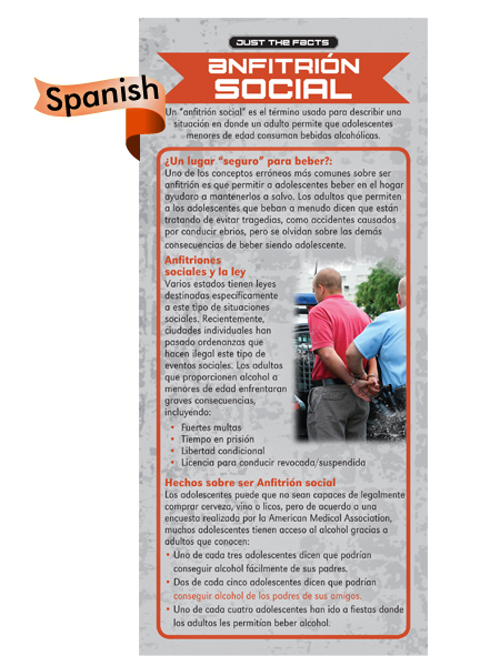 *SPANISH* Just the Facts Rack Card: Social Hosting