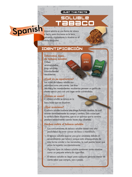 *SPANISH* Just the Facts Rack Card: Dissolvable Tobacco