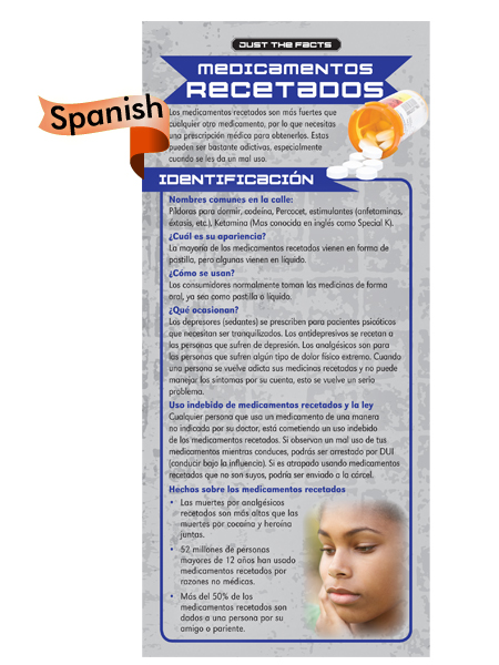 *SPANISH* Just the Facts Rack Card: Prescription Drugs