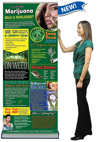 Marijuana Retractable Banner w/Stand