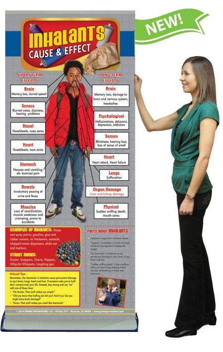 C&E Inhalants Retractable Banner