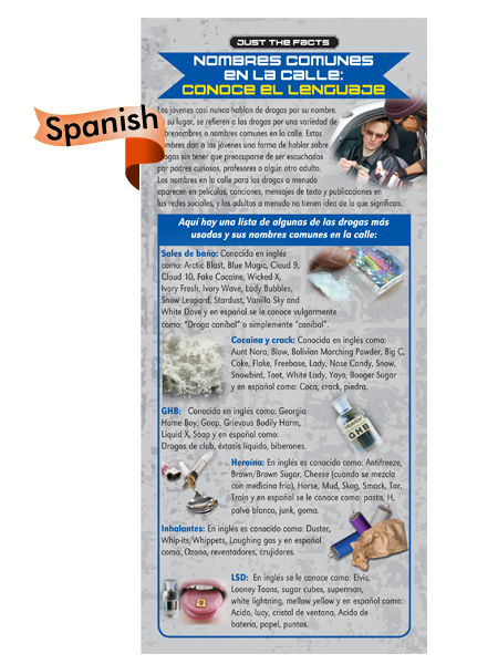 *SPANISH* Just the Facts Rack Card: Drug Dictionary