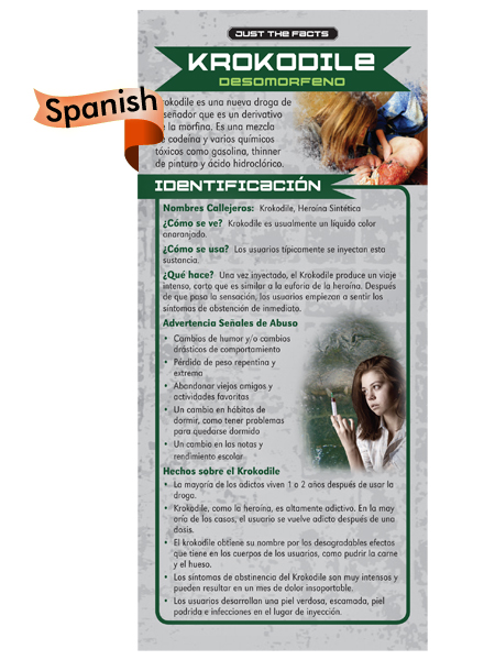 *SPANISH* Just the Facts Rack Card: Krokodil