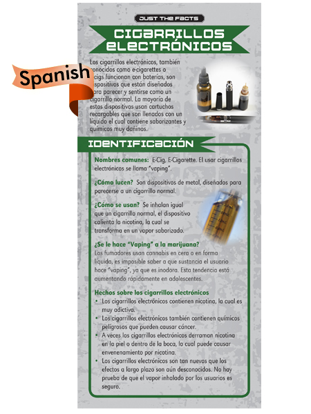 *SPANISH* Just the Facts Rack Card: Electronic Cigarette