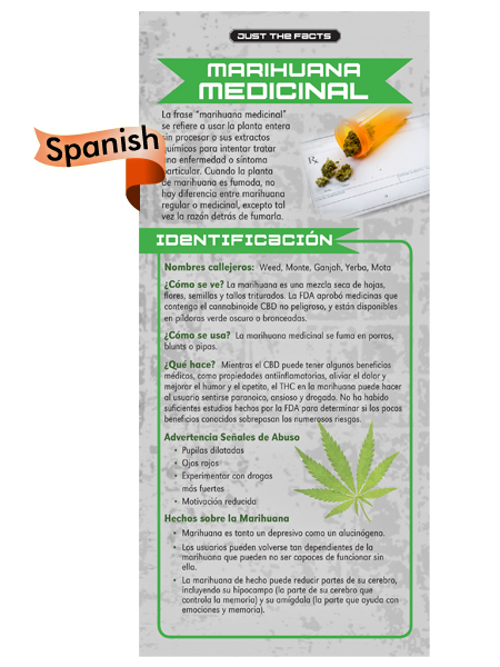 *SPANISH* Just the Facts Rack Card: Medical Marijuana