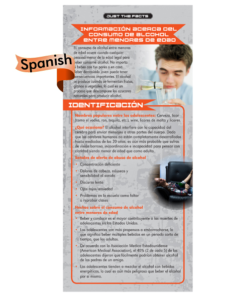*SPANISH* Just the Facts Rack Card: Underage Drinking