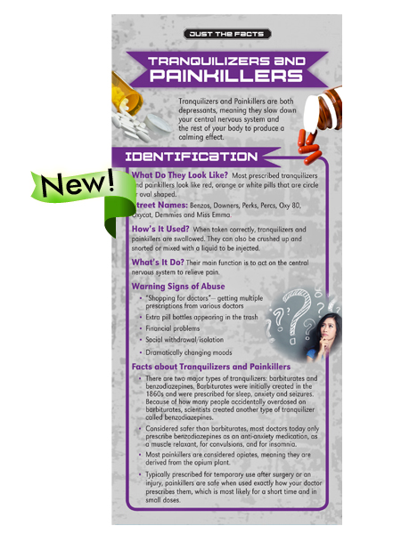 *SPANISH* Just the Facts Rack Card: Tranquilizers & Painkillers