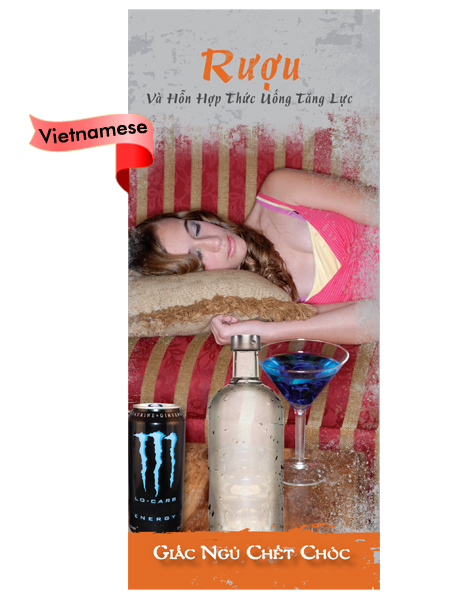 *VIETNAMESE* Alcohol & Energy Drink Mixtures: Dead Asleep Pamphlet