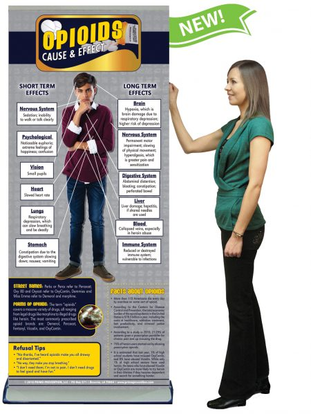 C&E Opioids Prevention Retractable Banner w/Stand