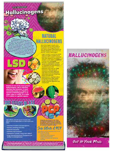 Hallucinogens Retractable Banner Package