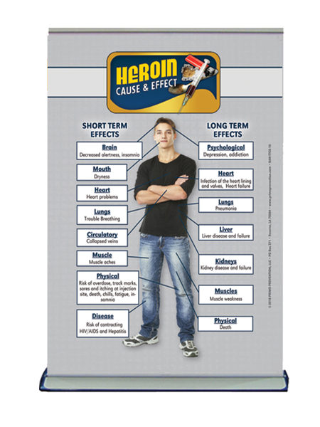 Table Top Retractable Banner C&E Heroin