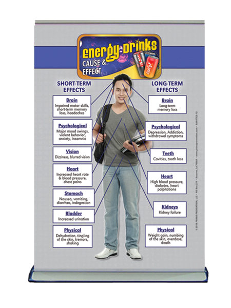 Table Top Retractable Banner C&E Energy Drinks
