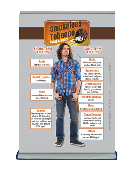 Table Top Retractable Banner C&E Smokeless Tobacco