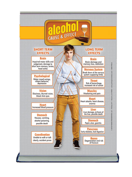 Table Top Retractable Banner C&E Alcohol