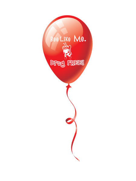 Bee Like Me Drug Free 9 inch Latex Balloon