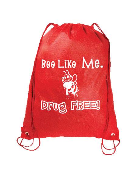 Bee Like Me Drug Free - Drawstring Backpack