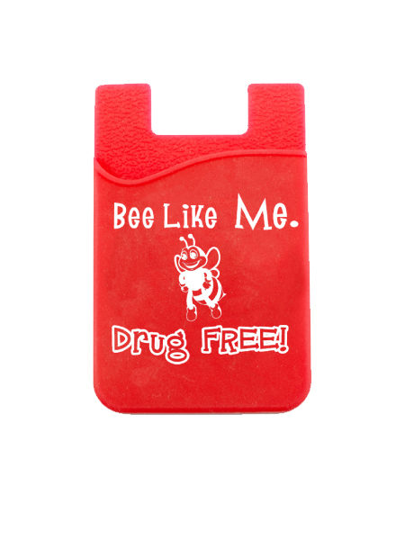 Bee Like Me Drug Free - Silicone Cell Phone Smart Wallet