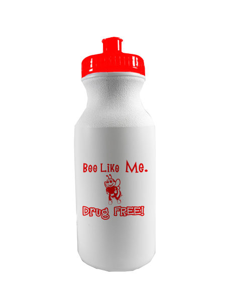 Bee Like Me Drug Free - 20 oz. Sports Bottle
