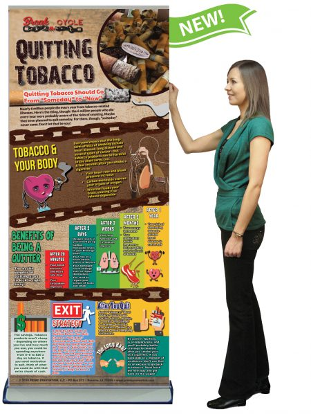 Break the Cyle: Quitting Tobacco Presentation Banner w/Stand