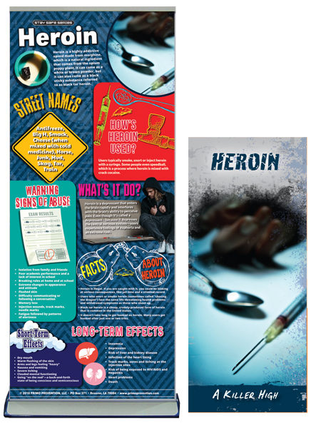 Heroin Prevention Retractable Banner Package