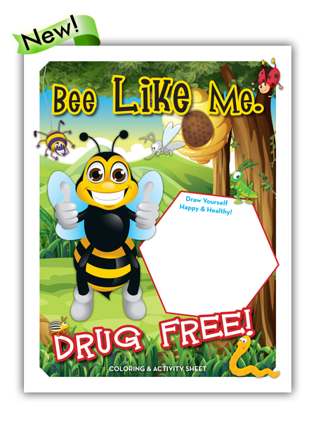 Bee Like Me Drug Free Activity Sheet Primo Prevention