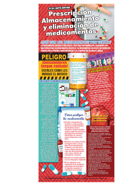 *SPANISH* Prescription Drug Storage & Disposal Retractable Banner w/Stand
