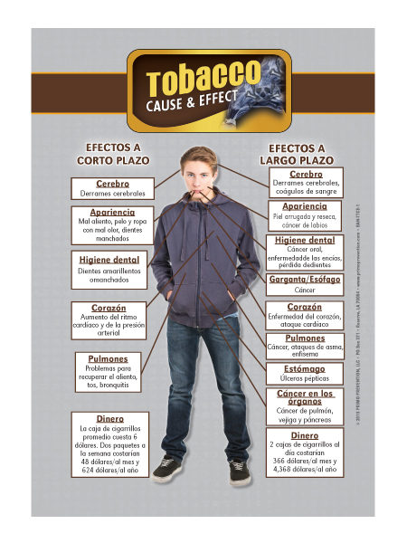 *SPANISH* Table Top Retractable Banner C&E Tobacco