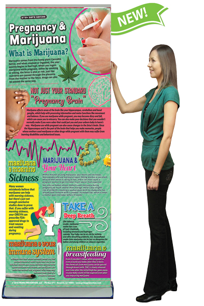 Pregnancy & Marijuana Retractable Banner w/Stand