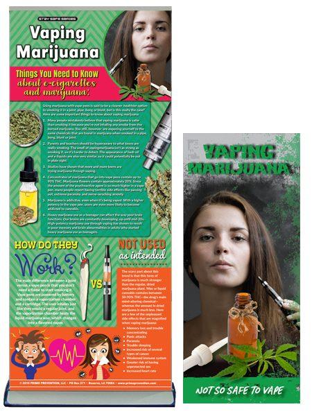 Vaping Marijuana Retractable Banner Package
