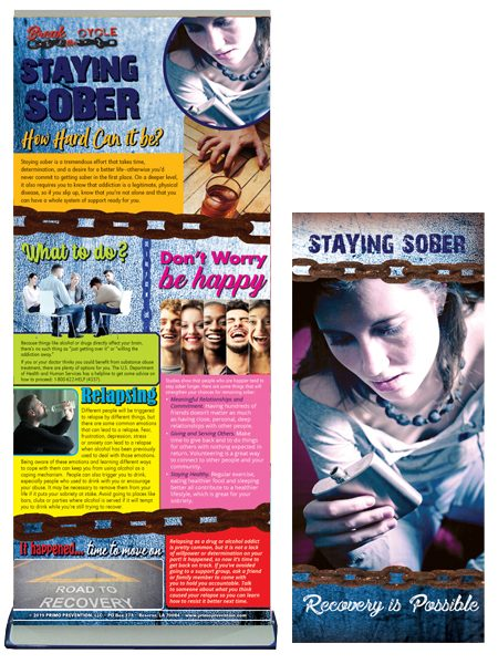 Break the Cycle: Staying Sober Retractable Banner Package