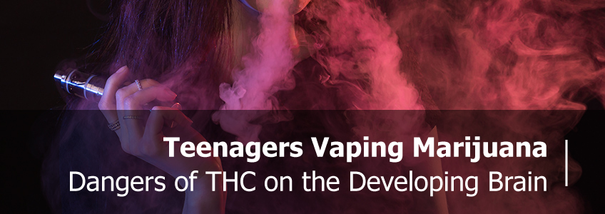 Teenager Vaping Marijuana