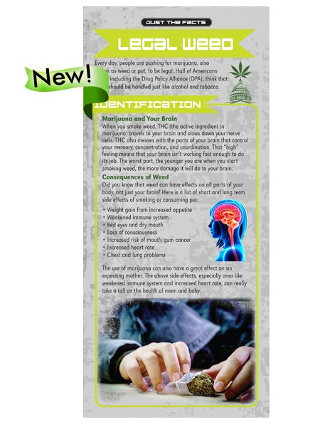 Just the Facts Rack Card: Legal Weed