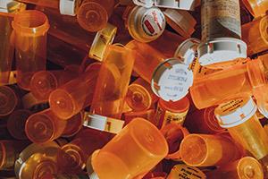 Empty Adderall prescription bottles