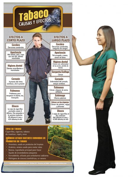 *SPANISH* Cause & Effect Tobacco Prevention Retractable Banner