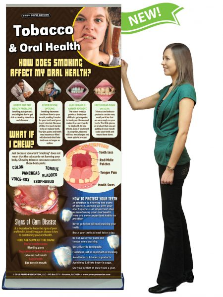 Tobacco & Oral Health Presentation Banner w/Stand
