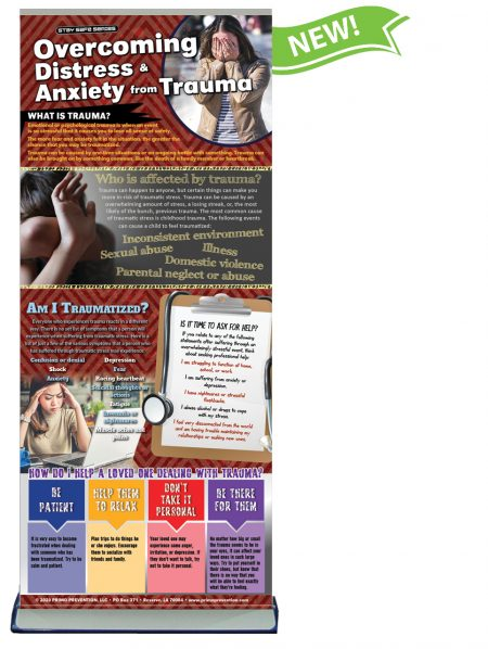 Overcoming Distress & Anxiety from Trauma Presentation Banner w/Stand