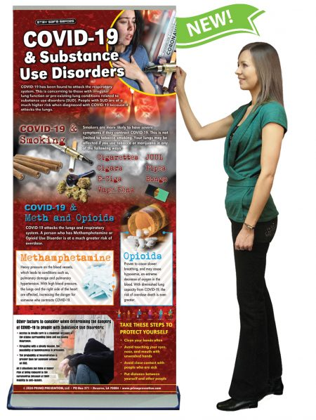 COVID-19 & Substance Use Disorders Presentation Banner w/Stand
